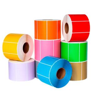 Comandă etichete autoadezive colorate pe un rind   Etichete.eu
