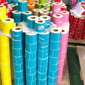 Poducerea etichetelor termice galbeni-albastre-roz-rosie   Etichete.eu